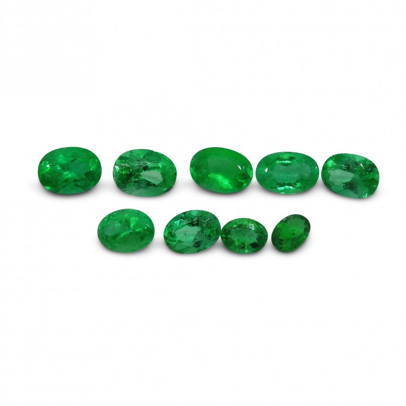 Emerald 3.14 cts 9st Oval WHOLESALE LOT
