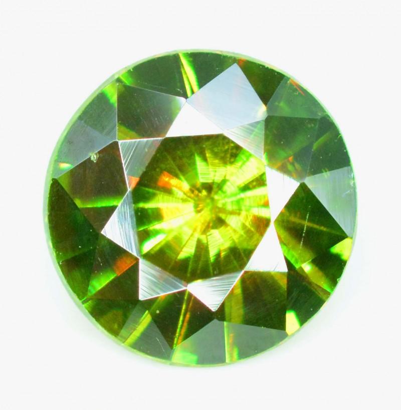 1.30 cts vvs Super Top Quality Round Cut  Rare Full Fire Green Sphene Titan