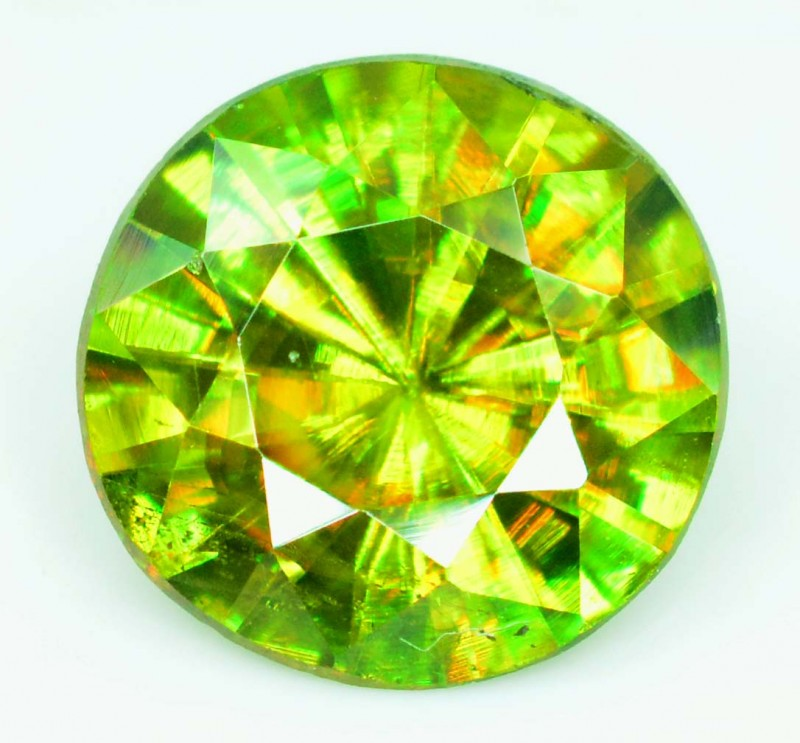 1.30 cts vvs Super Top Quality Rare  Extreme Full Fire Green Sphene Titanit