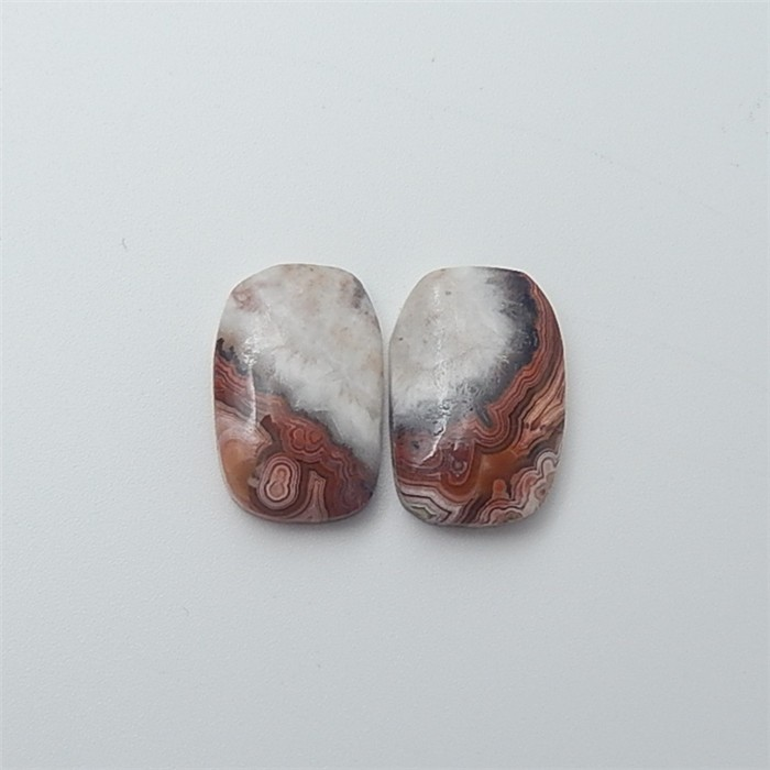 15ct New Arrival Natural Lace Agate Cabochon Pair(18053022)