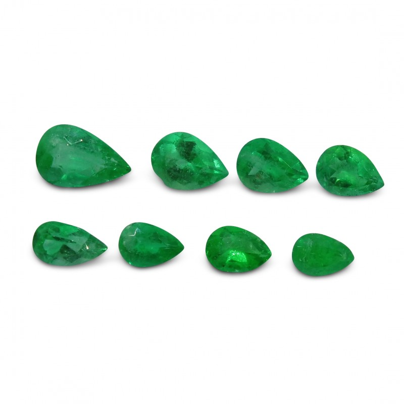 Emerald 4.17 cts 8st Pear WHOLESALE LOT
