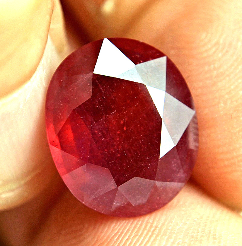 13.49 Carat Fiery Pigeon Blood Ruby