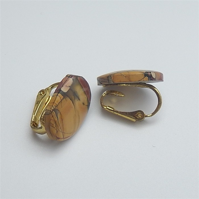 21ct New Arrival Oval Multi-Color Picasso jasper Earring Pair(18053112)