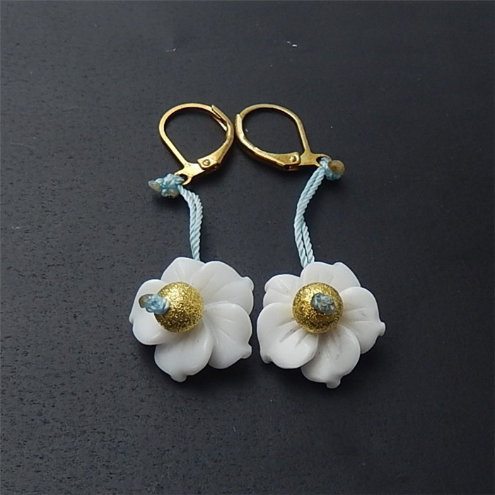 18.5ct For lover Beautiful White Agate Earring Pair(18053113)