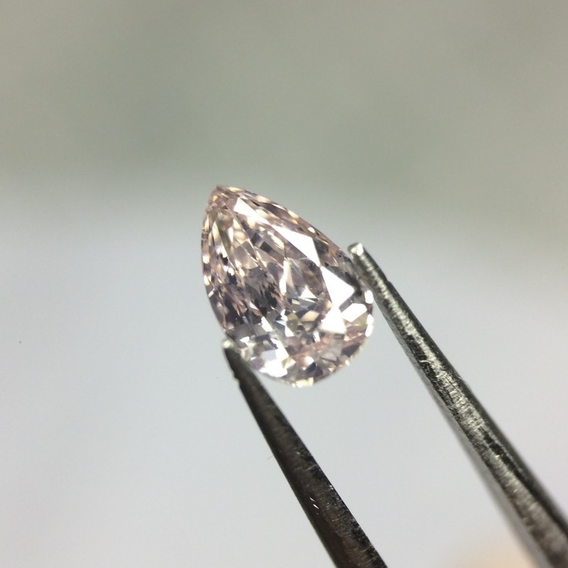 0.28 Fancy Light Pink Pear GIA Certified Natural Loose Diamond