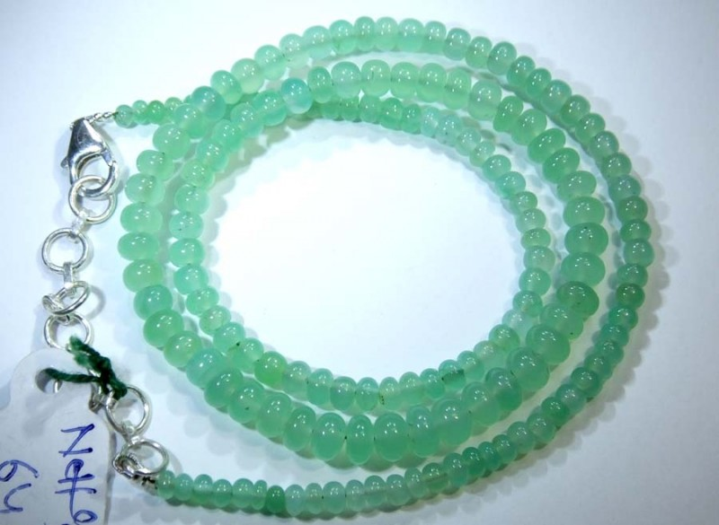 64.CTS CHRYSOPRASE BEADS STRAND NP-2430