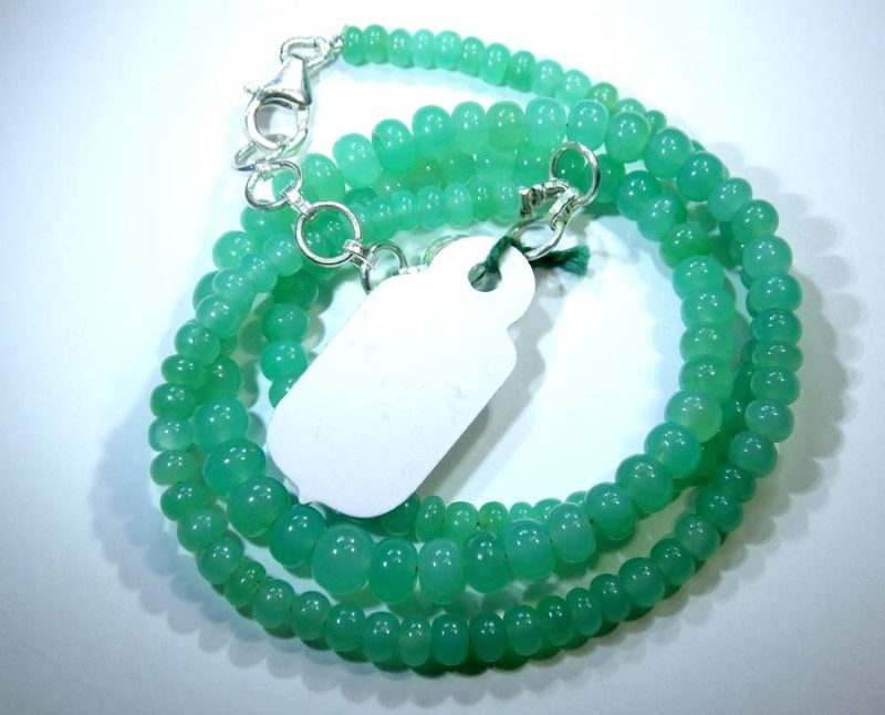 68.85CTS CHRYSOPRASE BEADS STRAND NP-2435