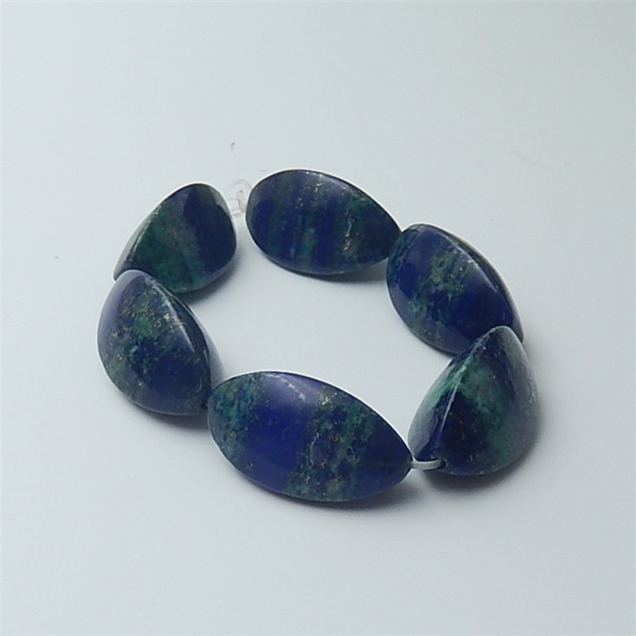 189.5ct 6Pcs Natural Blue Azurite Beads Strand(18060109)