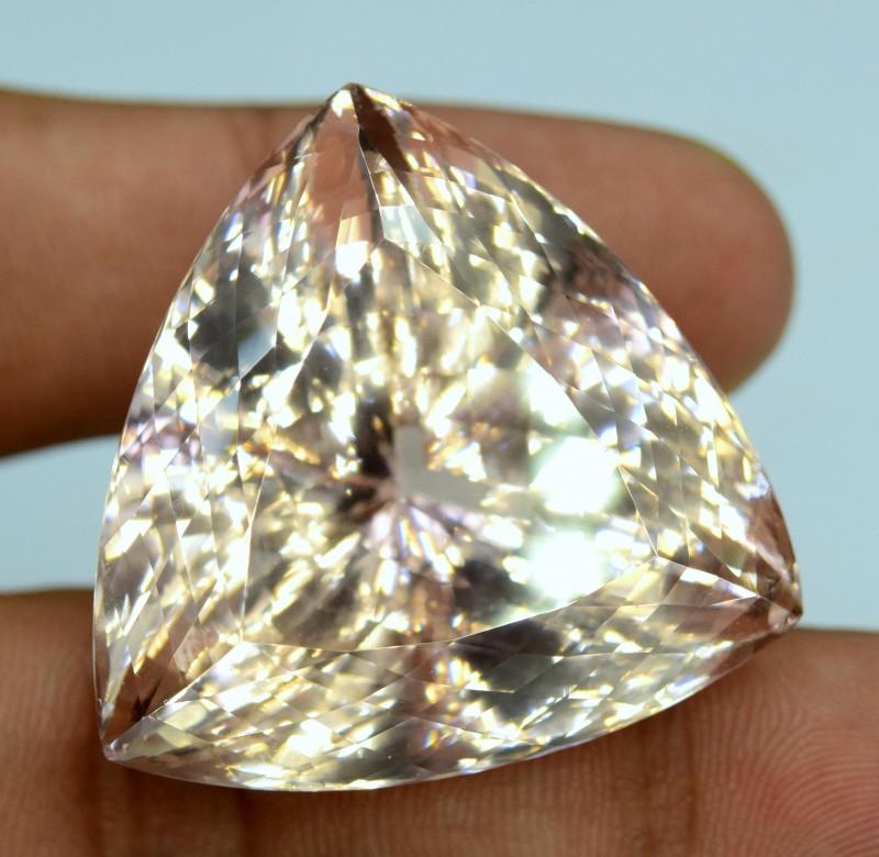 161 40 Cts Flawless Natural Peach Pink Morganite Gemstone