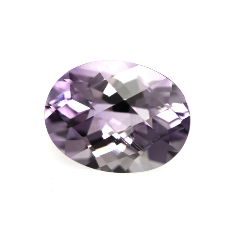 3.48cts Natural Purple Amethyst Oval Checker Board Shape