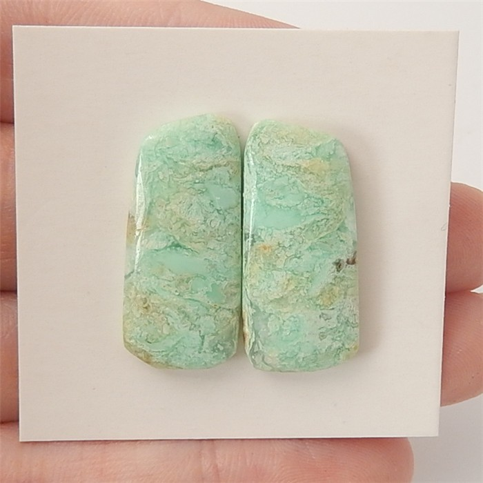 19.5ct Fashion Natural Chrysoprase Cabchon Pair(18060710)