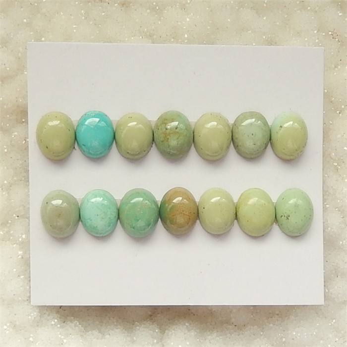 35ct 14Pcs OnSale Natural Oval Turquoise Cabochon (18060809)