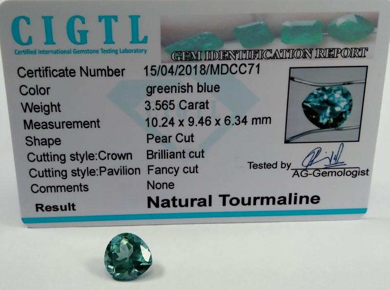 Certified CIGTL~3 565 Cts Museum Grade Green color Tourmaline Gem
