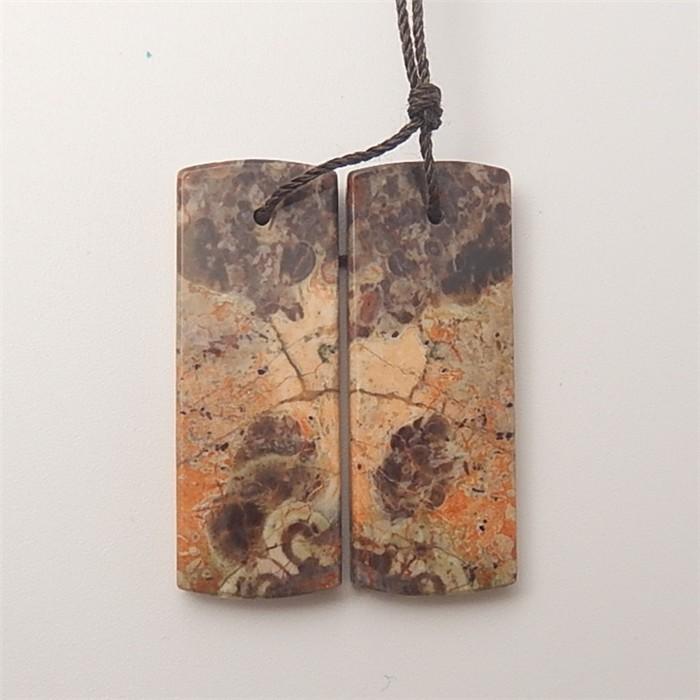 36.5ct On Sale Natural Mushroom Jasper Earring Pair(18061004)