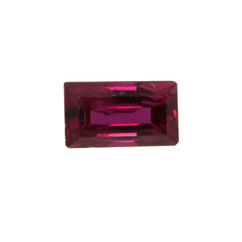0.32cts Natural Ruby Baguette Shape