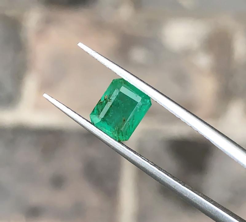 1.10 Ct Natural Greenish Semi Transparent Emerald Gemstones