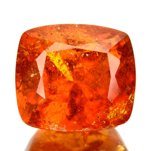 3.53 Ct Extremely Rare Natural Fire Orange Clinohumite Siberian Gem
