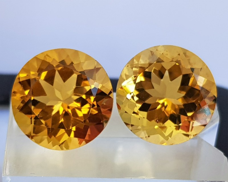 18.46cts Citrine,  Top Cut,  Calibrated