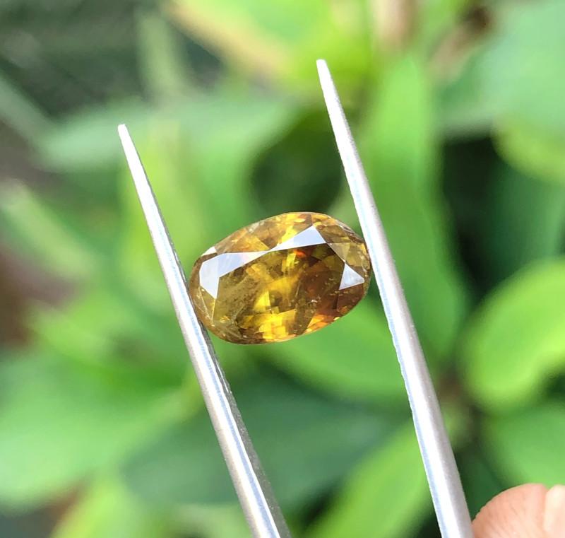 2.80 Ct Natural Fire Yellowish Brown Sphene Gemstone