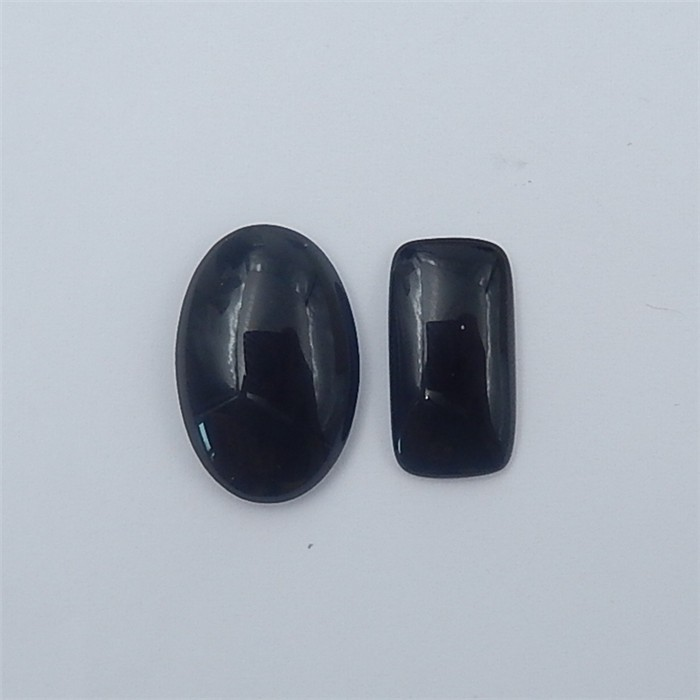 12.5ct Fashion Natural Obsidian Cabochon 2Pcs (18062604)
