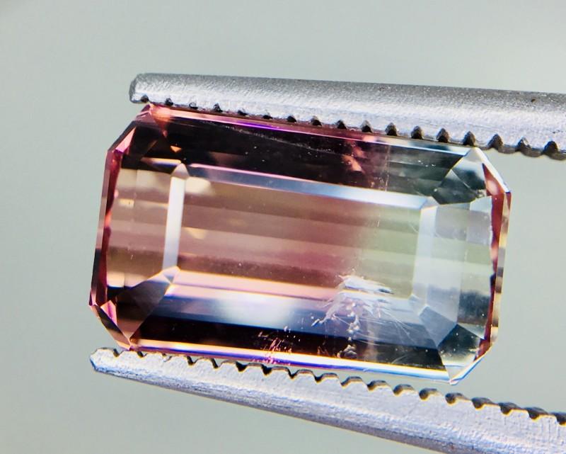 2.70 Crt Natural Bi Colour Tourmaline Faceted Gemstone