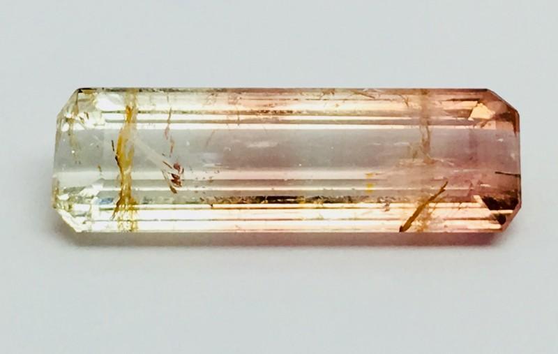 5.20 Crt Natural Bi Colour Tourmaline Faceted Gemstone