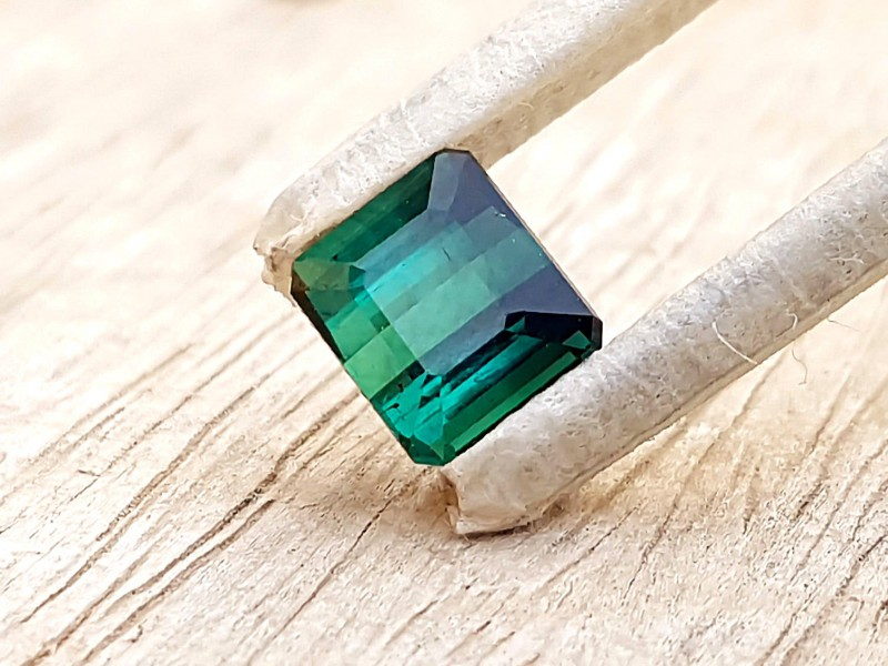 1.85 Ct Natural Blueish Green Semi Transparent Tourmaline Gem