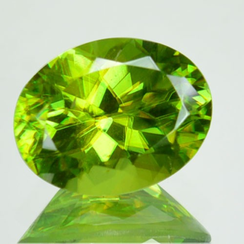 1.63 Cts Natural Green Sphene Oval Cut Russian Gem