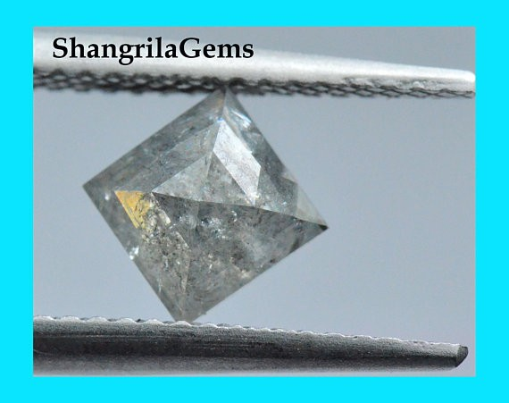 7.65mm 0.90ct salt pepper kite diamond shape diamond 7.65 by 7.65 point to