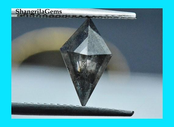 12mm 0.87ct Salt Pepper Kite diamond from Botswana