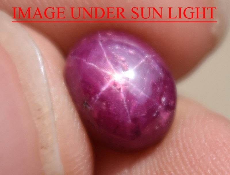 5.13 Ct Star Ruby CERTIFIED Beautiful Natural Unheated Untreated