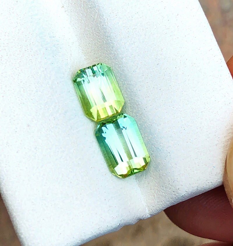 2.50 Ct Natural Greenish Blue Transparent Tourmaline Gemstones Parcels