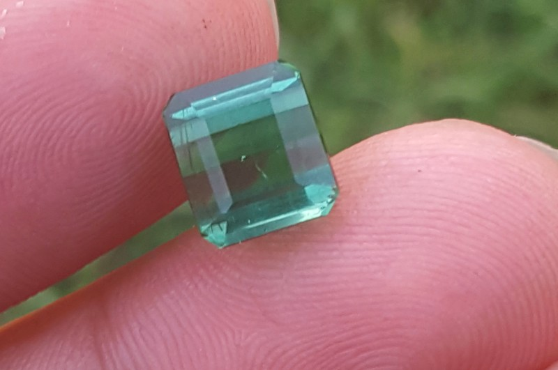 4.45 carats Blueish Green  color Tourmaline Gemstone From Afghanistan
