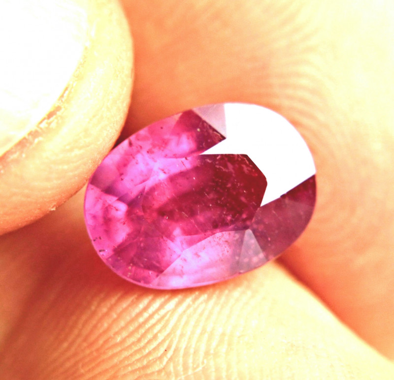 5.29 Carat Exotic Fiery Pink Ruby - Gorgeous