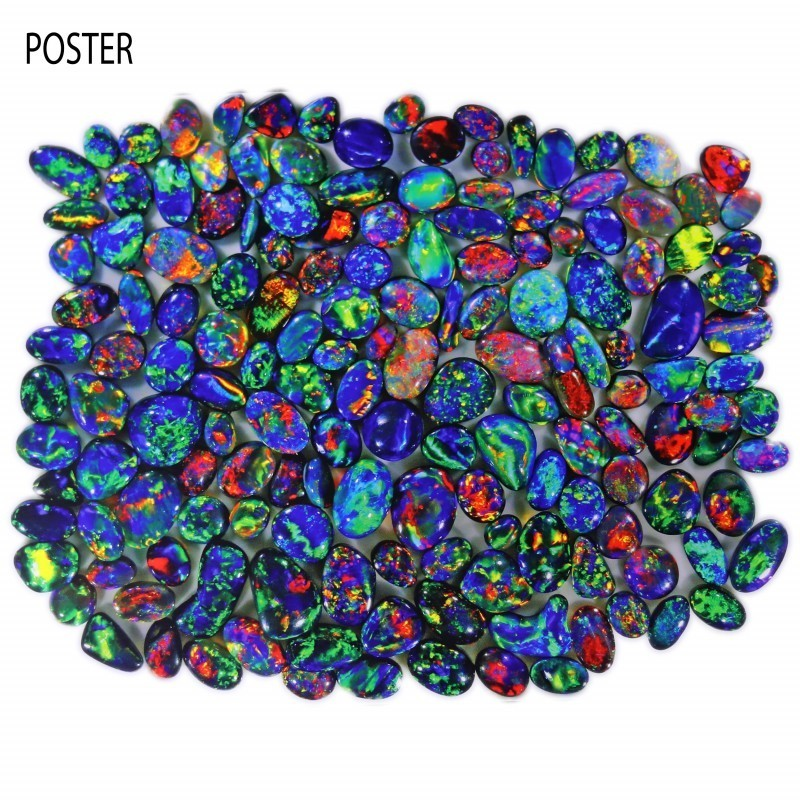 TWO OPAL POSTERS - BLACK OPALS-QUALITY GLOSSY PAPER