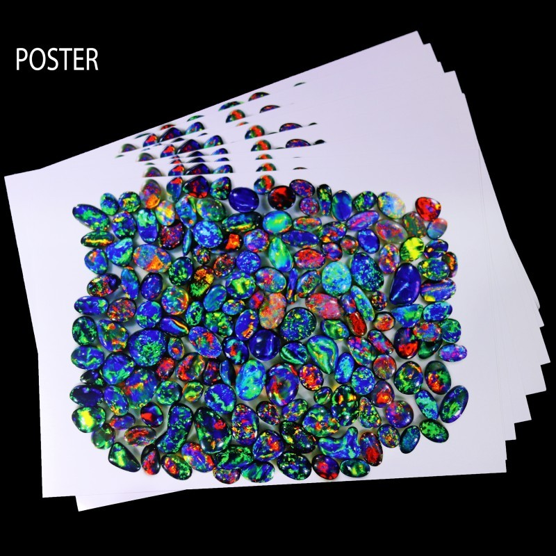 10 POSTER OF SEDAOPALS BLACK OPAL COLLECTION.