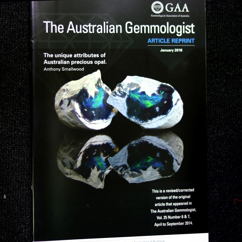 MAZAGINE ON OPALS BY AUST GEMMOLOGIST ASSOCIATION