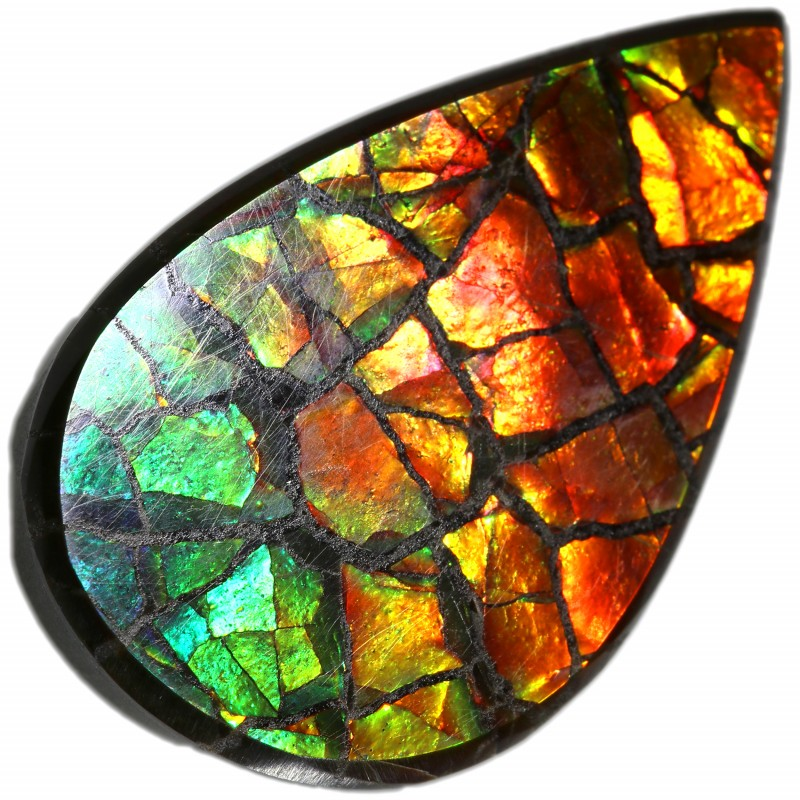 9.85 CTS AMMOLITE STONE FROM CANADA [SAFE112]