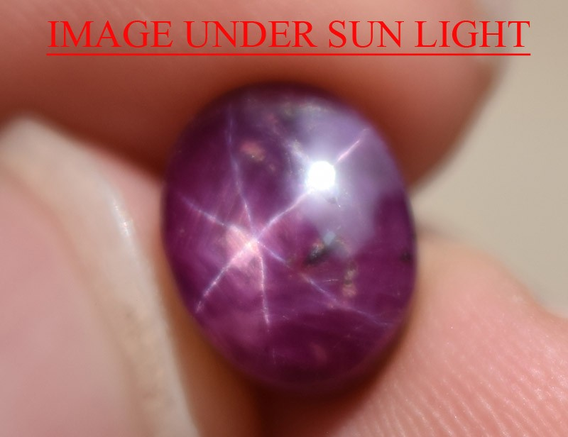 6.52 Ct Star Ruby CERTIFIED Beautiful Natural Unheated Untreated