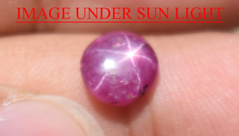 1.71 Ct Star Ruby CERTIFIED Beautiful Natural Unheated Untreated