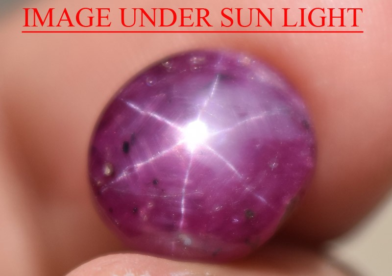 4.91 Ct Star Ruby CERTIFIED Beautiful Natural Unheated Untreated