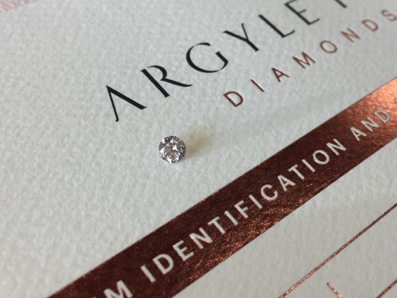 0 18ct Pce Si2 Certified Argyle Pink Diamond