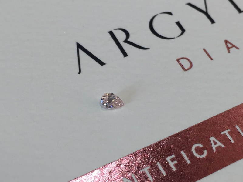 0.09ct PCE SIAV Certified Argyle Pink Diamond