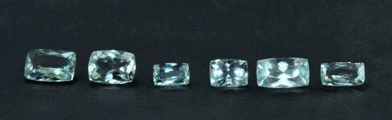 19.45 cts 6 pcs lot of radiant cut Untreated Aquamarine Loose gemstone from