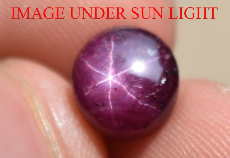 5.48 Ct Star Ruby CERTIFIED Beautiful Natural Unheated Untreated