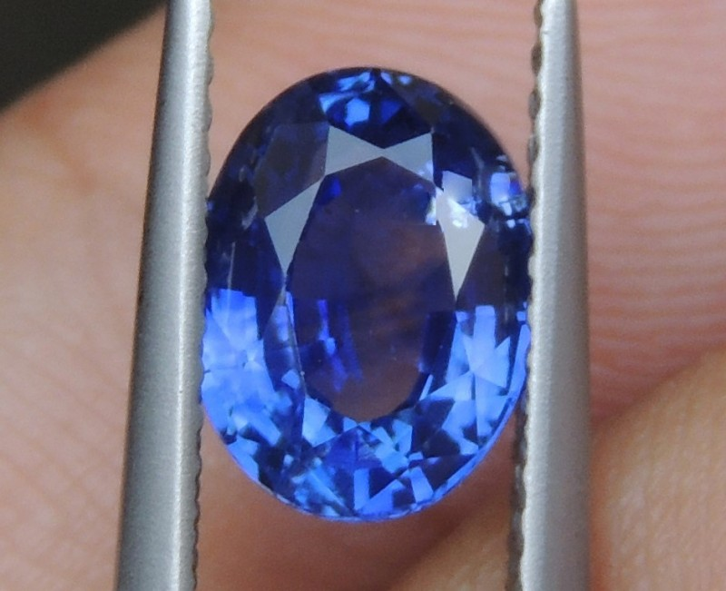 2.00cts,  Sapphire,  Pure Blue,  Heat Only,  Clean