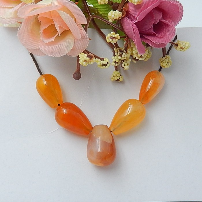 58.5ct New Arrival Natural Red Agate Necklace Beads (18071416)