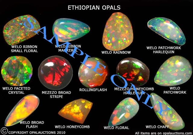 ETHIOPIAN OPAL POSTER  FREE SHIPPING  A4 SIZE