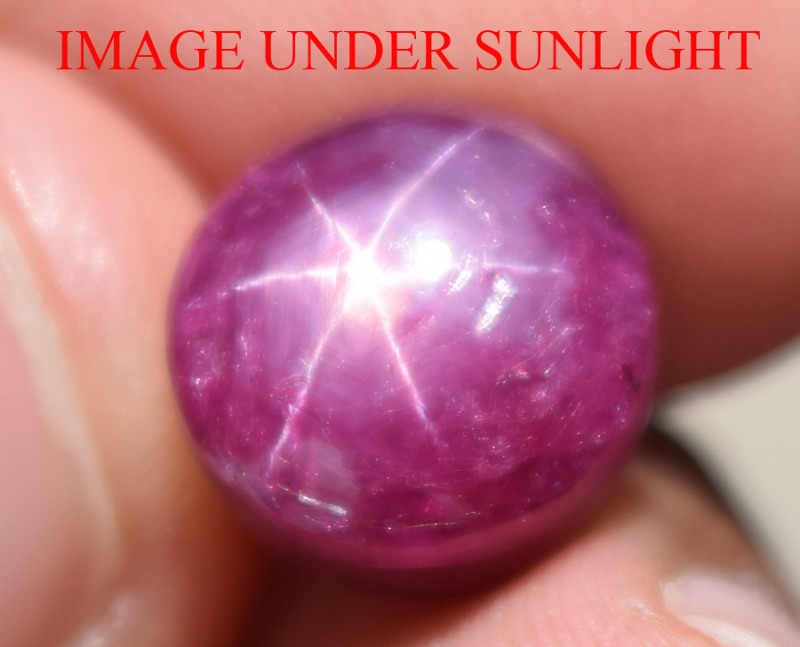 10.14 Ct Star Ruby CERTIFIED Beautiful Natural Unheated Untreated