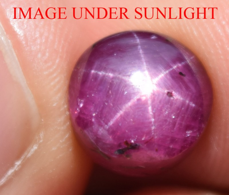 7.55 Ct Star Ruby CERTIFIED Beautiful Natural Unheated Untreated